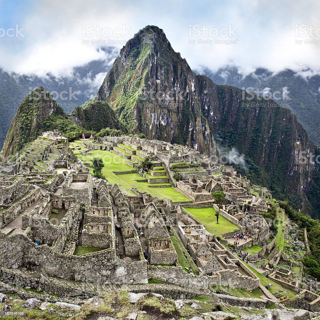 The Classic shot of Machu Picchu stock photo