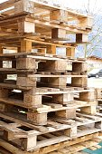 The classic wooden pallets
