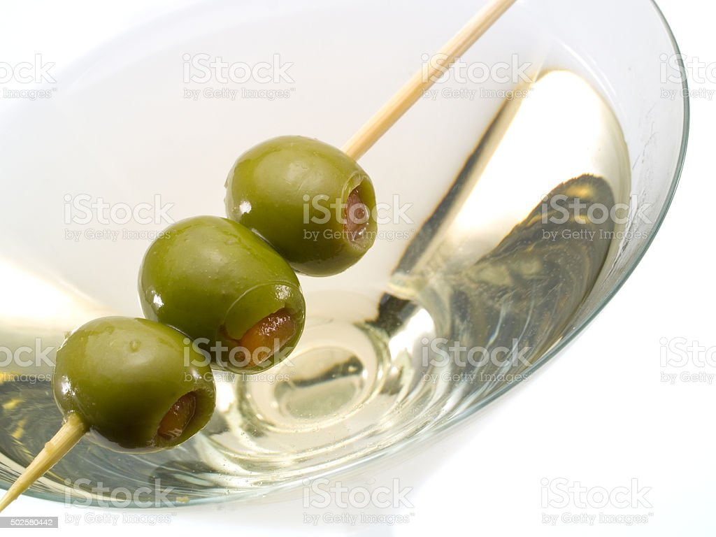 The classical, dry martini stock photo