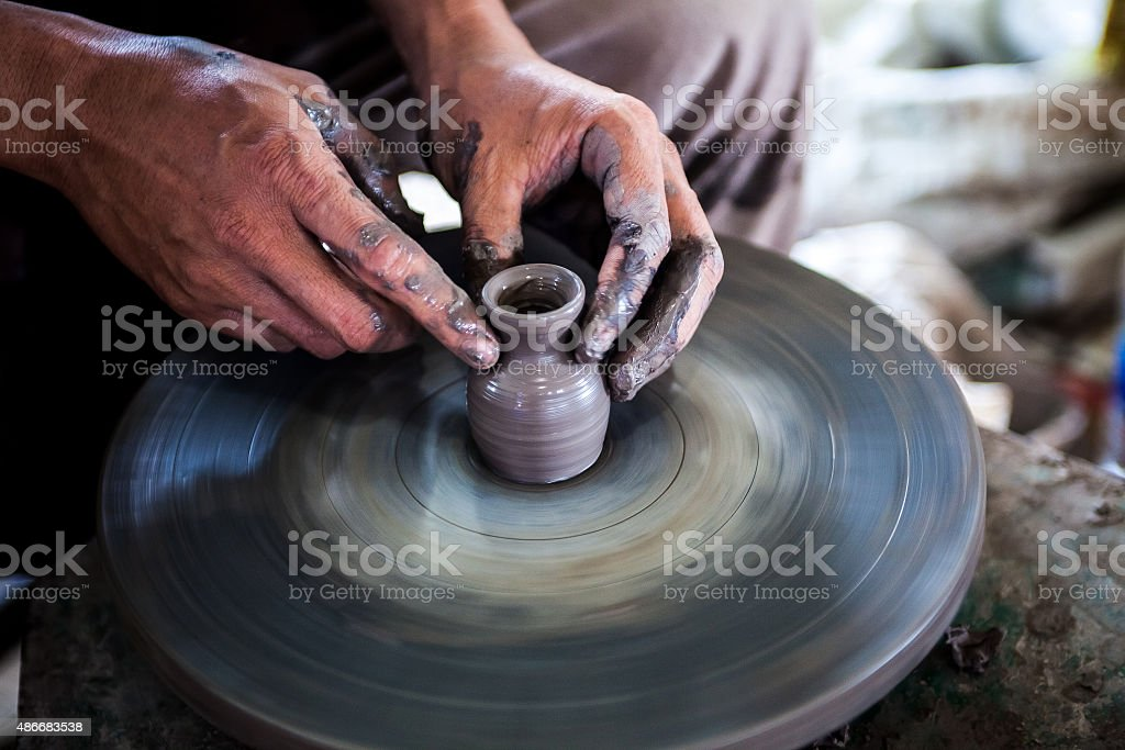 The Clay sculpture stock photo