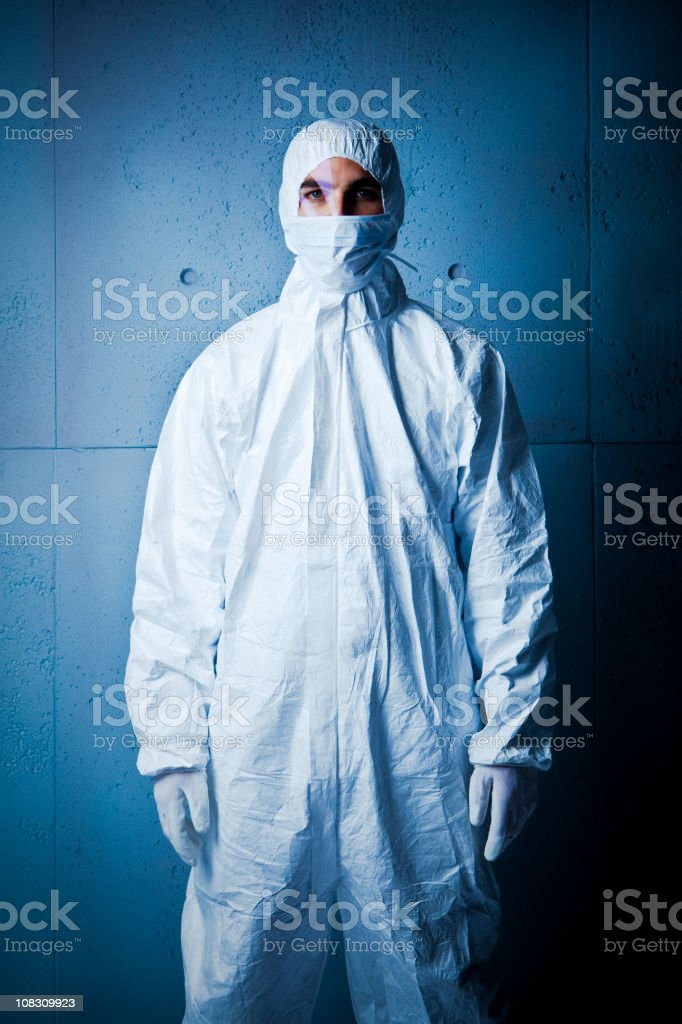 The cleaner. Nuclear radiation. royalty-free stock photo