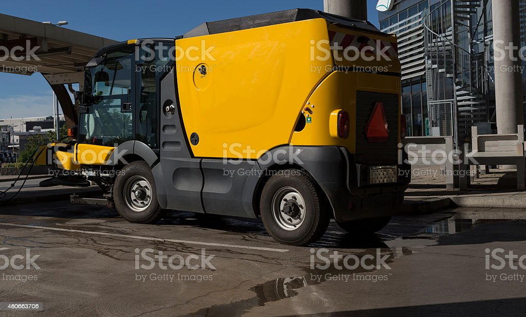 The cleaning machine royalty-free stock photo