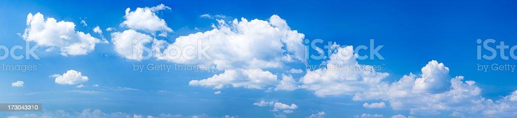 The clear blue sky panorama 59MPix  XXXXL stock photo