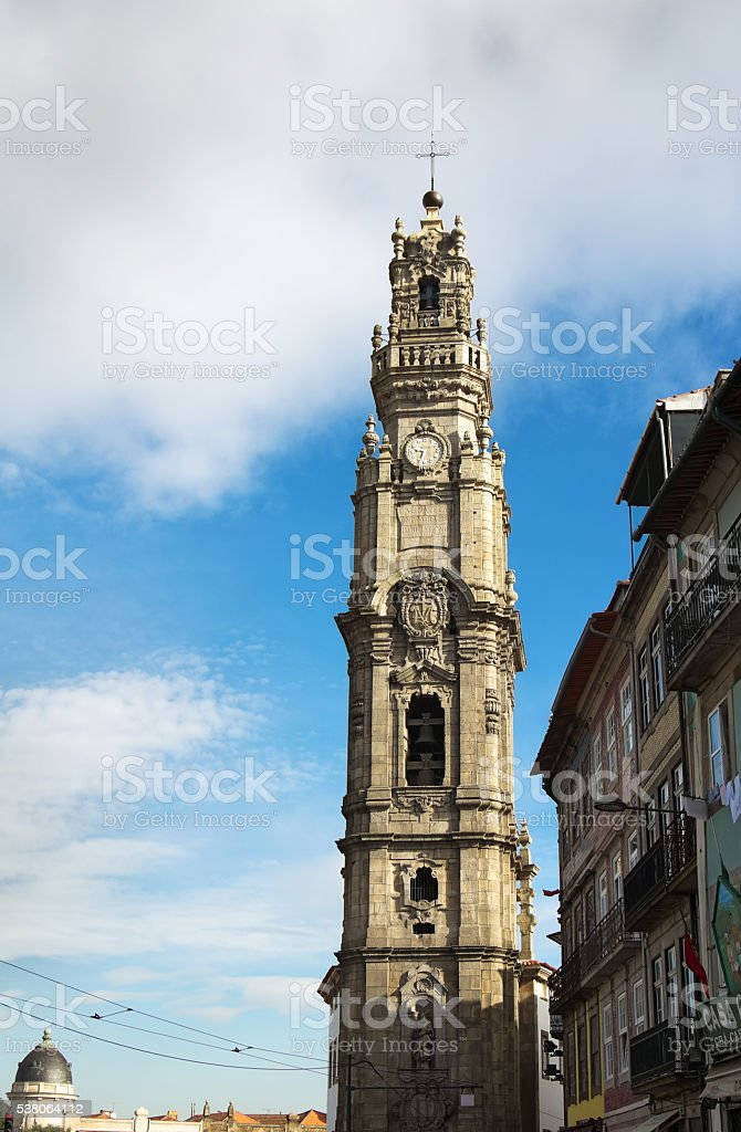 The Clerics Tower (Torre dos Clerigos), Porto, Portugal stock photo