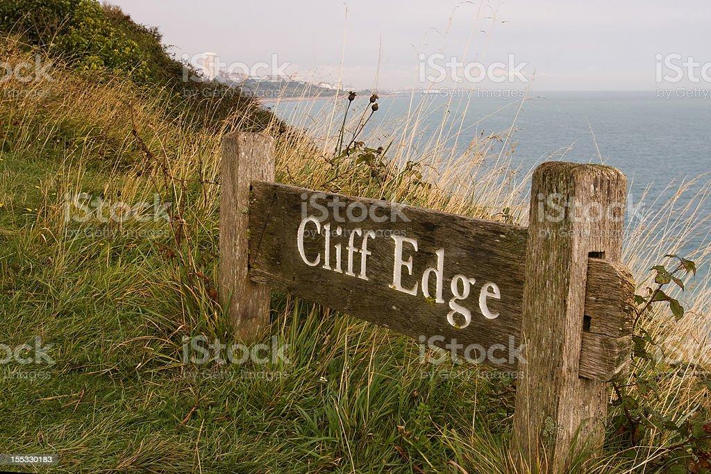 the cliff edge royalty-free stock photo