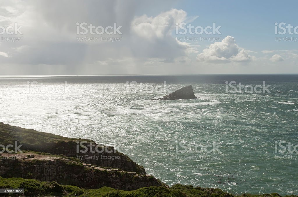 The cliff in the sea royalty-free stock photo