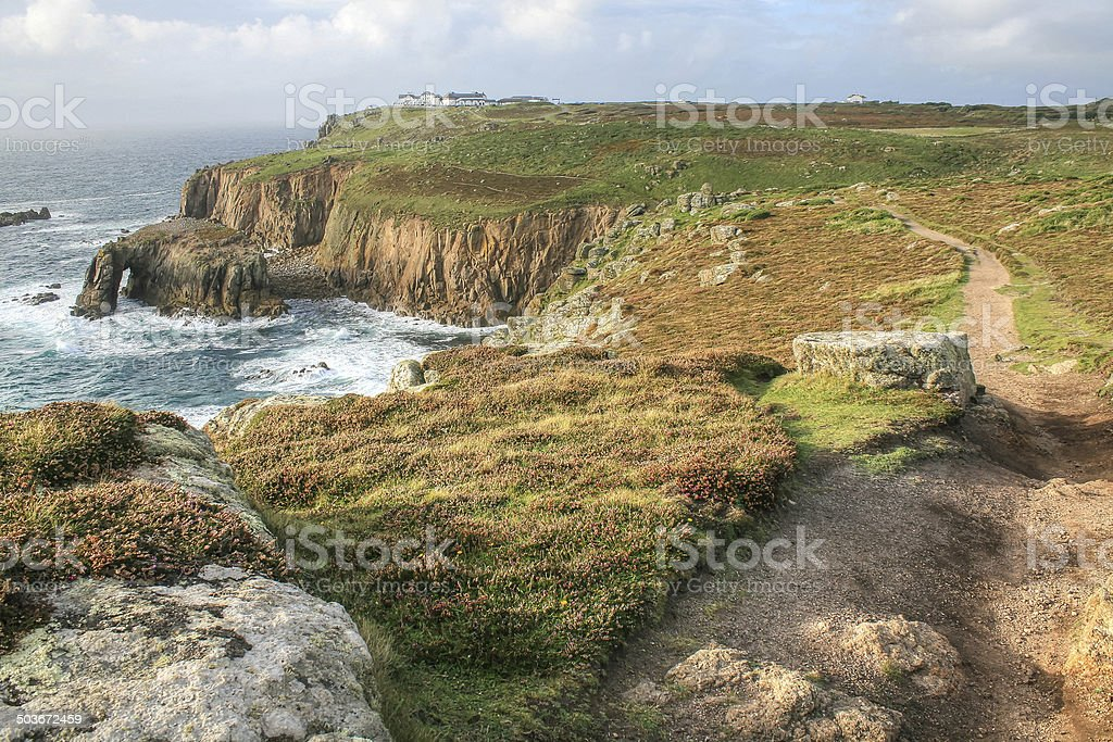 The cliffs around Lands End royalty-free stock photo