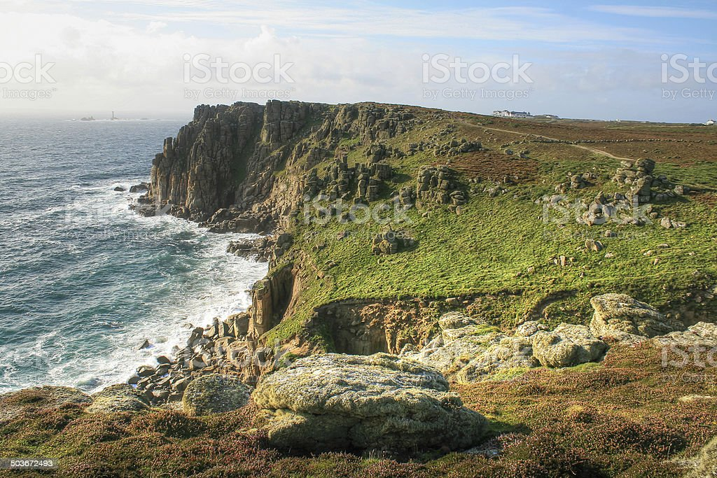 The cliffs around Lands End stock photo
