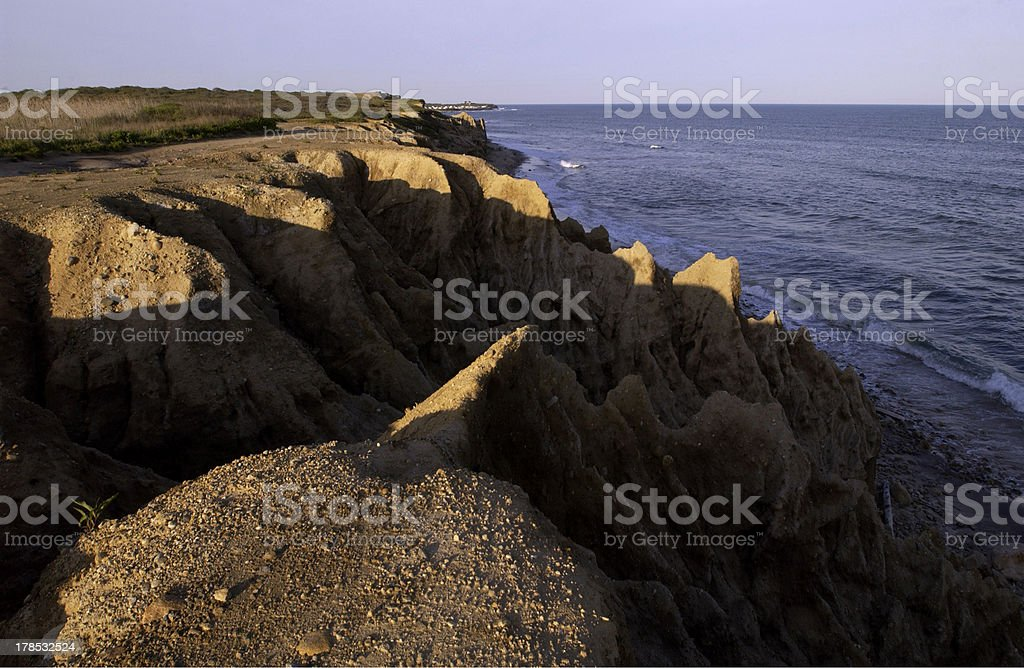 The cliffs at Shadmoor State Park. stock photo