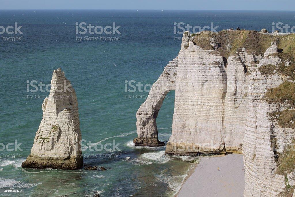 The cliffs of Etretat stock photo