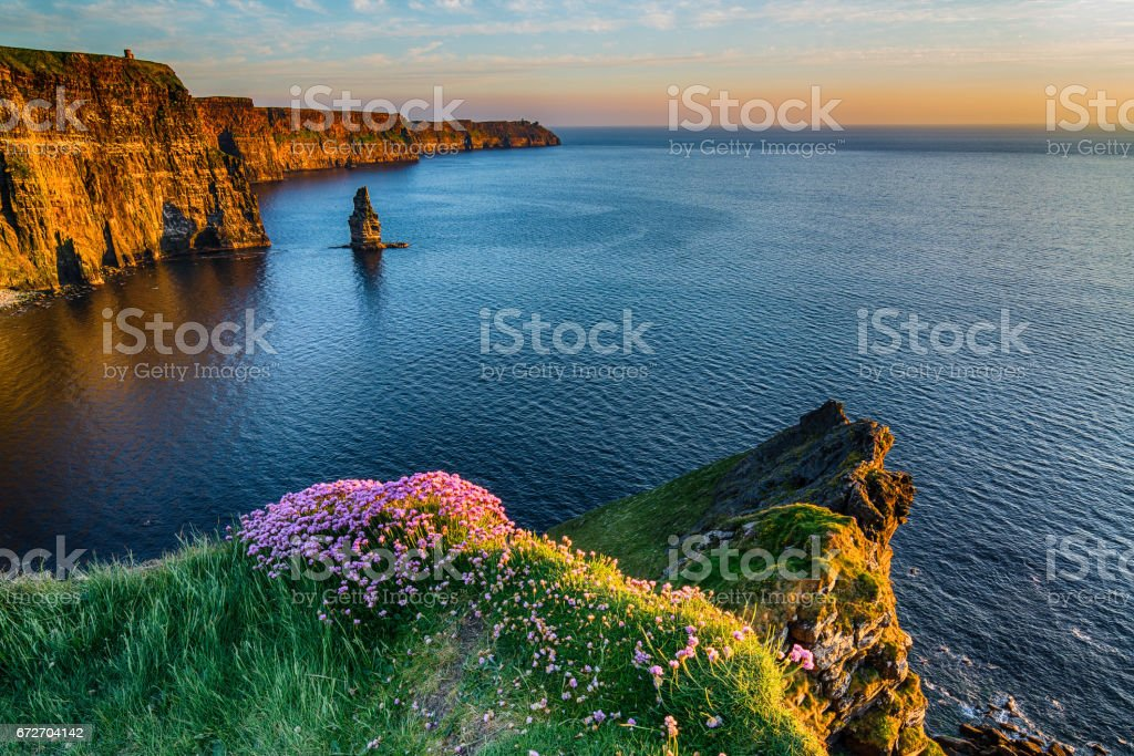 The Cliffs of Moher West coast of Ireland stock photo