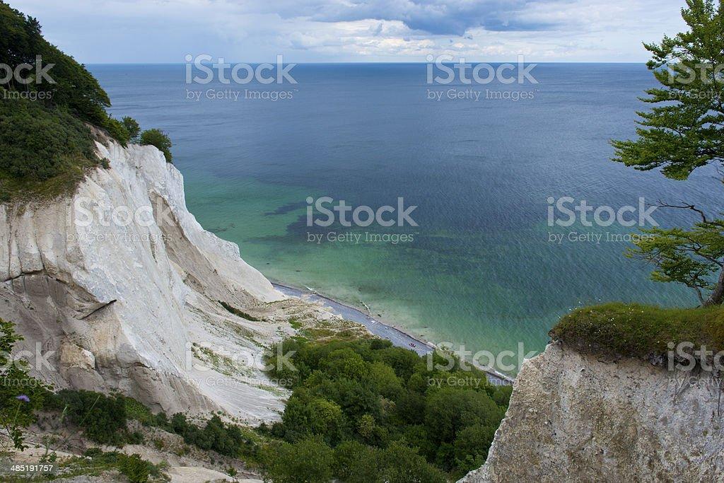 The Cliffs of Mons Klint stock photo