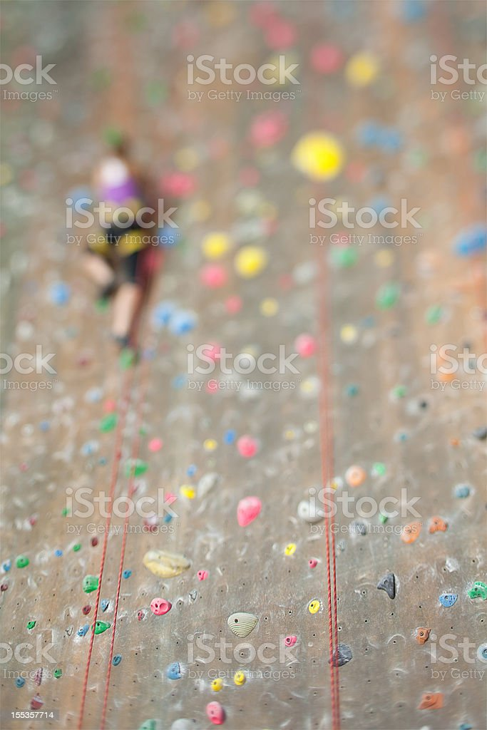 The Climbing Wall royalty-free stock photo