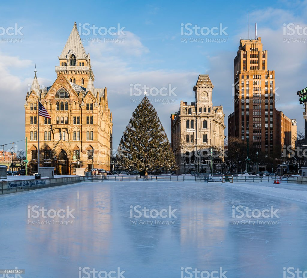 The Clinton Square in Syracuse, New York State, USA stock photo