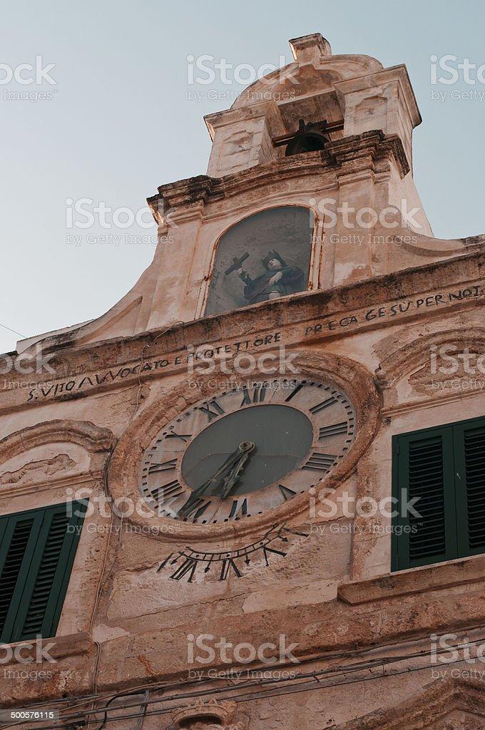The clock of St. Vitus stock photo