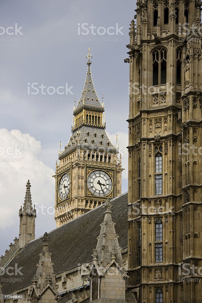 The Clock Tower at Westminster royalty-free stock photo