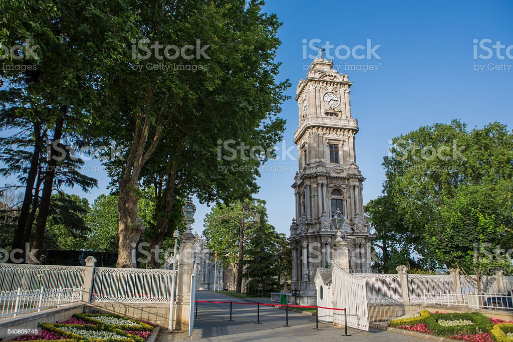 The clock tower Dolmabahce - Stock image stock photo