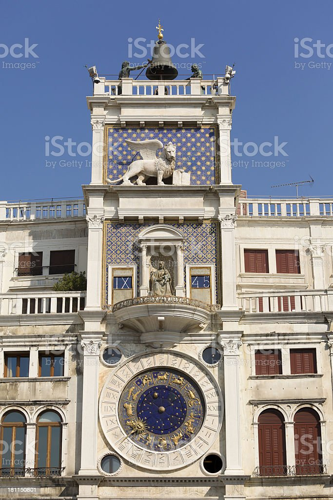 The Clock Tower in Venice royalty-free stock photo