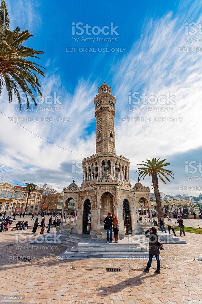 The Clock Tower of ızmir stock photo