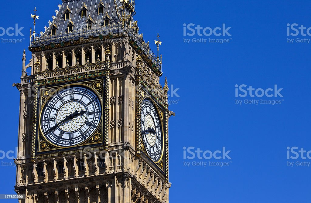 The Clock-Face of Big Ben in London stock photo