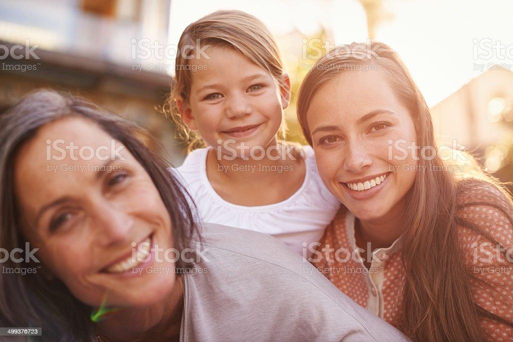 The closeness of family royalty-free stock photo