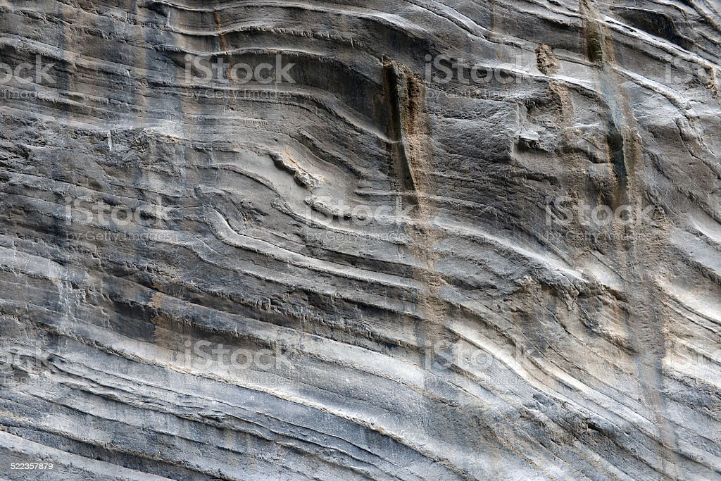 The close-up relief of the rocks stock photo