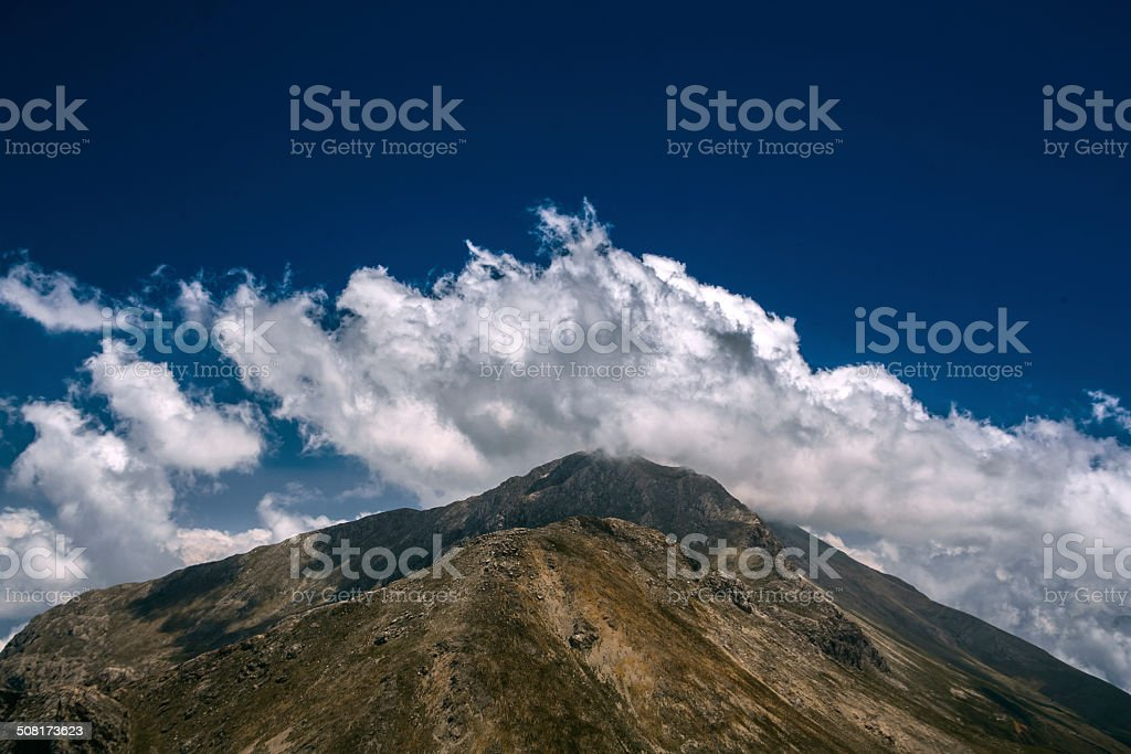 The clouds and the mountain royalty-free stock photo