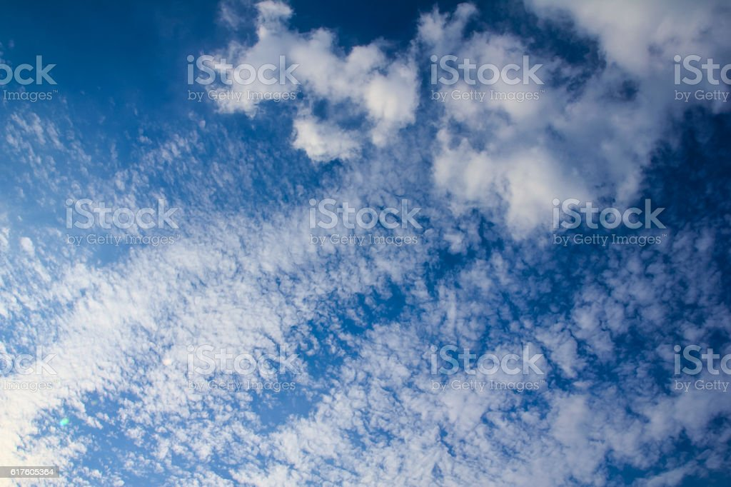 the clouds of the fall (autumn) stock photo