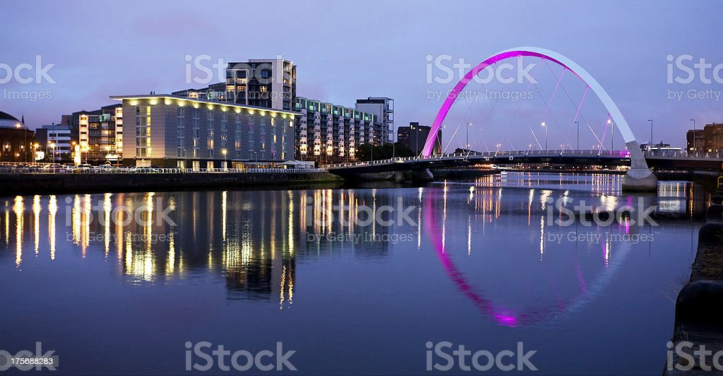 The Clyde at Night stock photo
