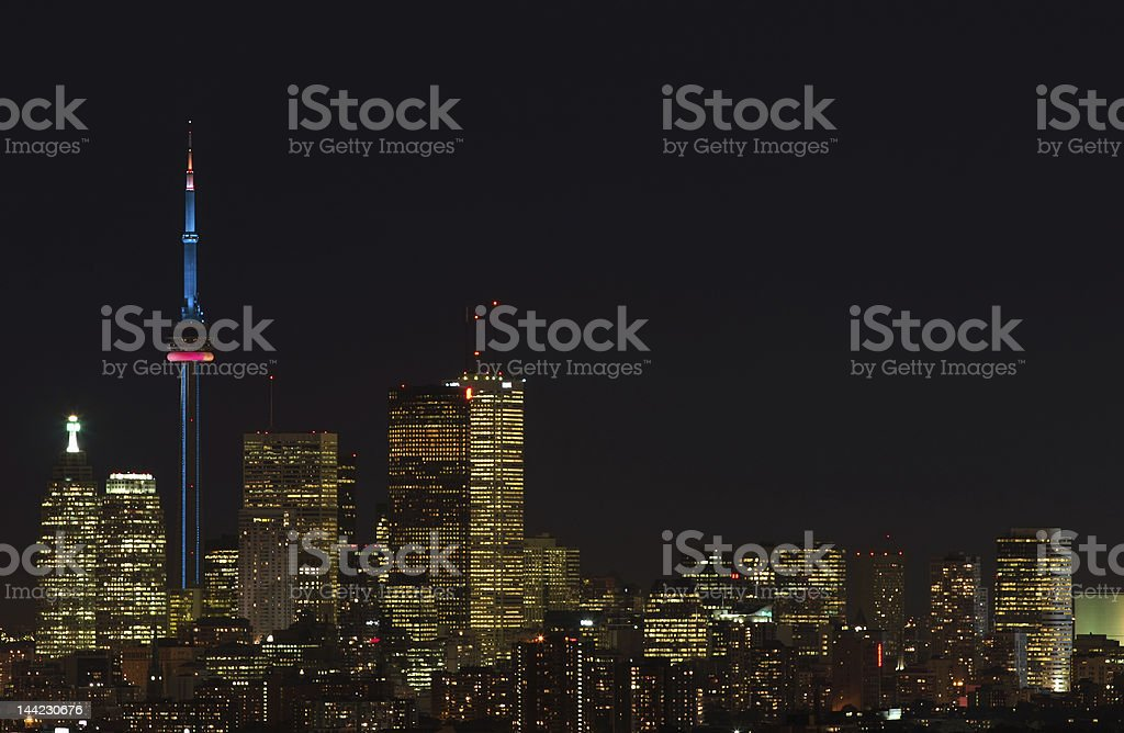 the CN tower royalty-free stock photo