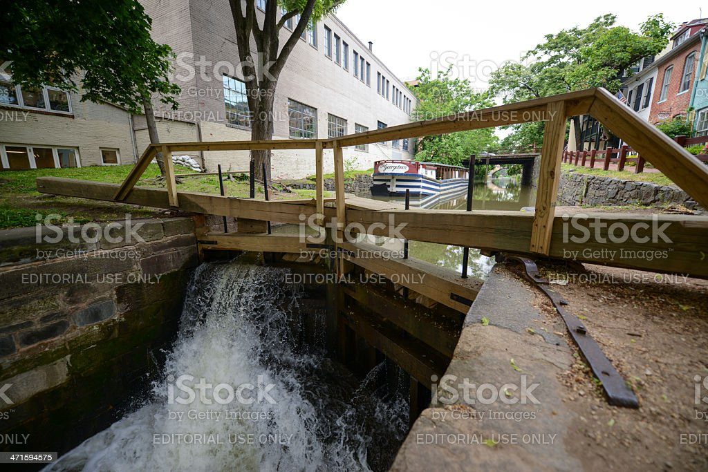 The C&O Canal, Georgetown stock photo