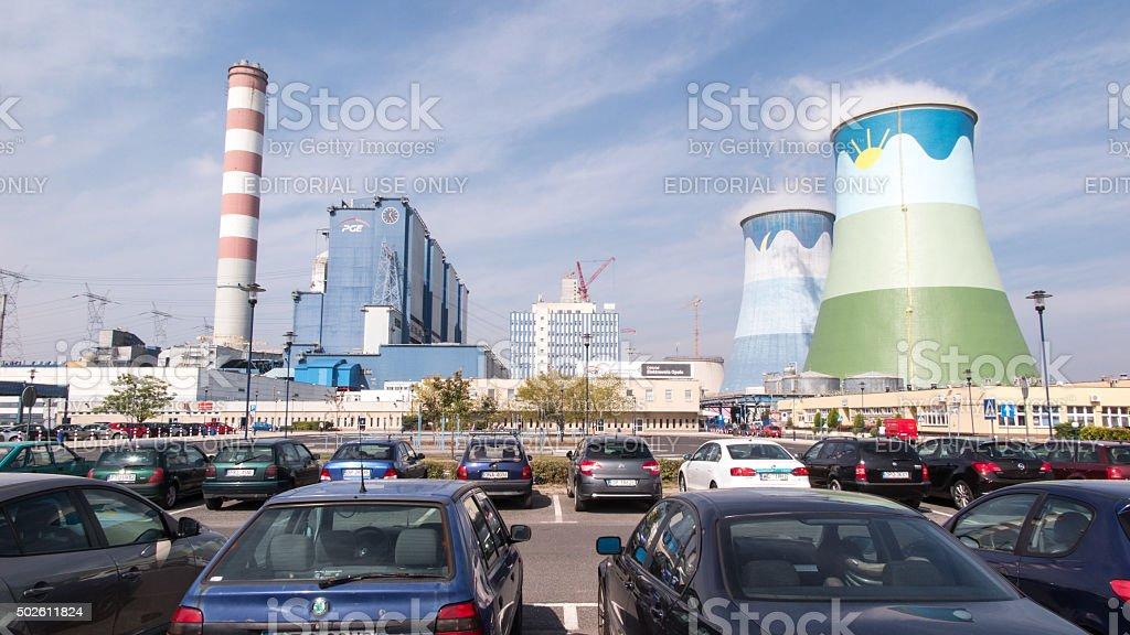 The coal plant Opole in Brzezie near Opole stock photo