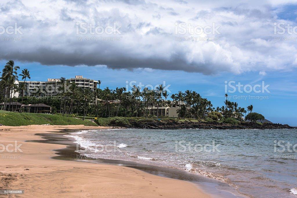 The coast along Wailea, Maui, Hawaii stock photo