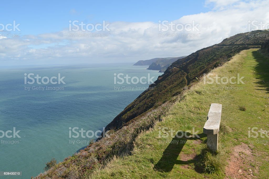 The Coast around Woody Bay, Devon, UK stock photo