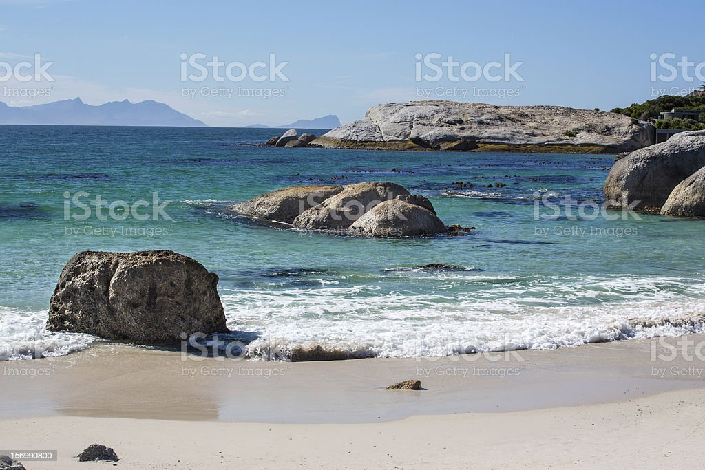 The coast at Cape Point in South Africa royalty-free stock photo