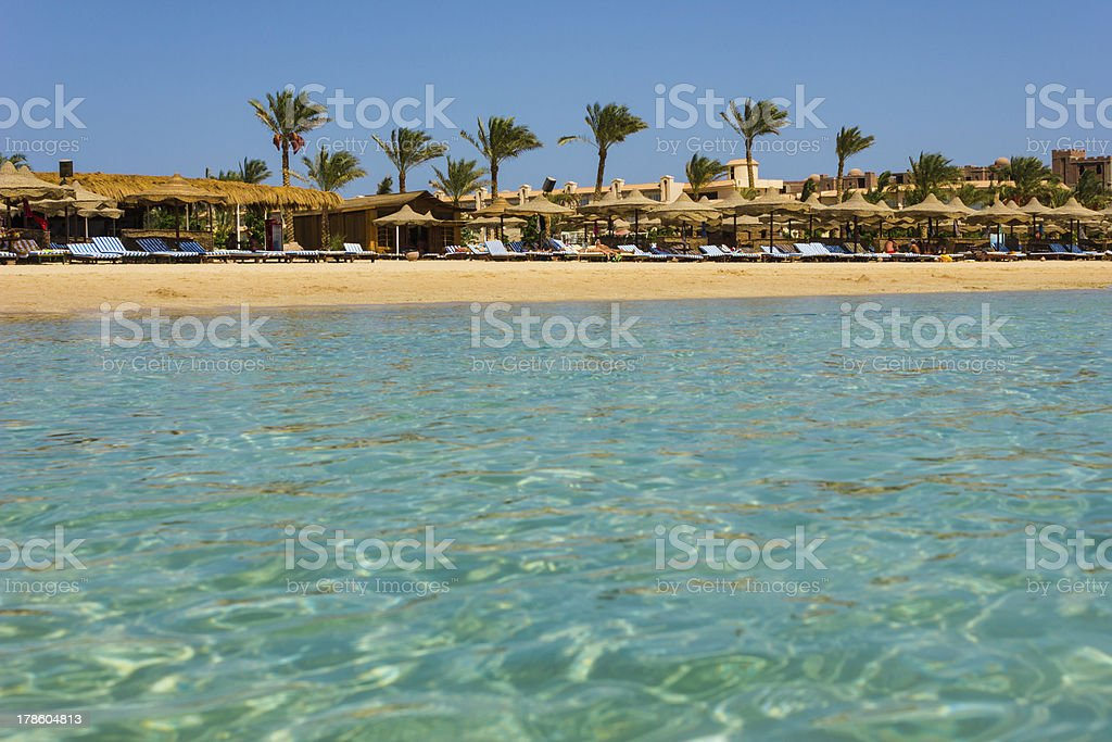 the coast of Africa in Egypt by sea royalty-free stock photo