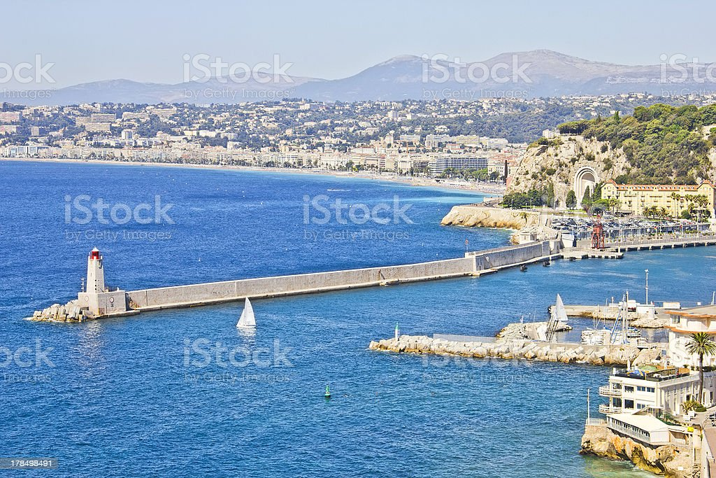 The coast of Nice, France royalty-free stock photo