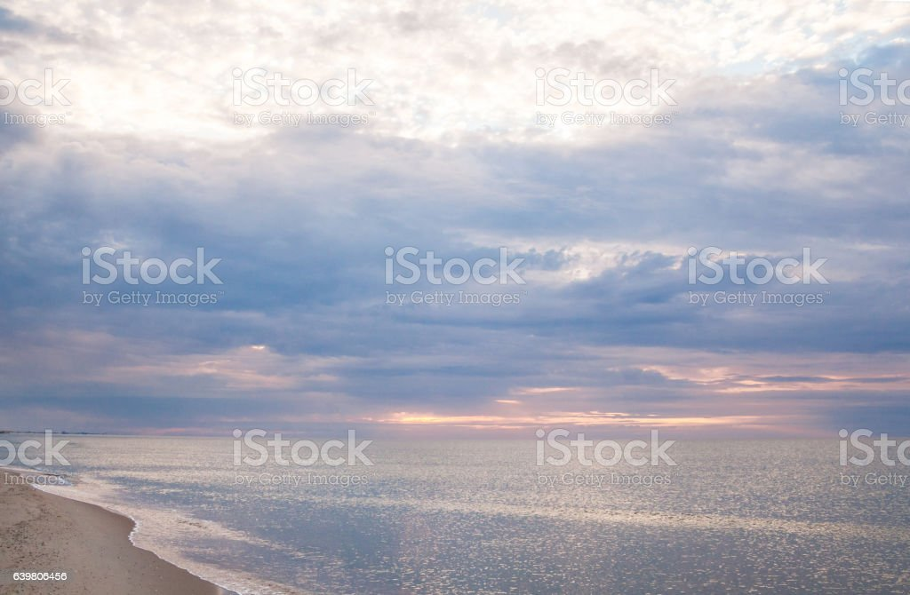 The coast of the Black Sea stock photo