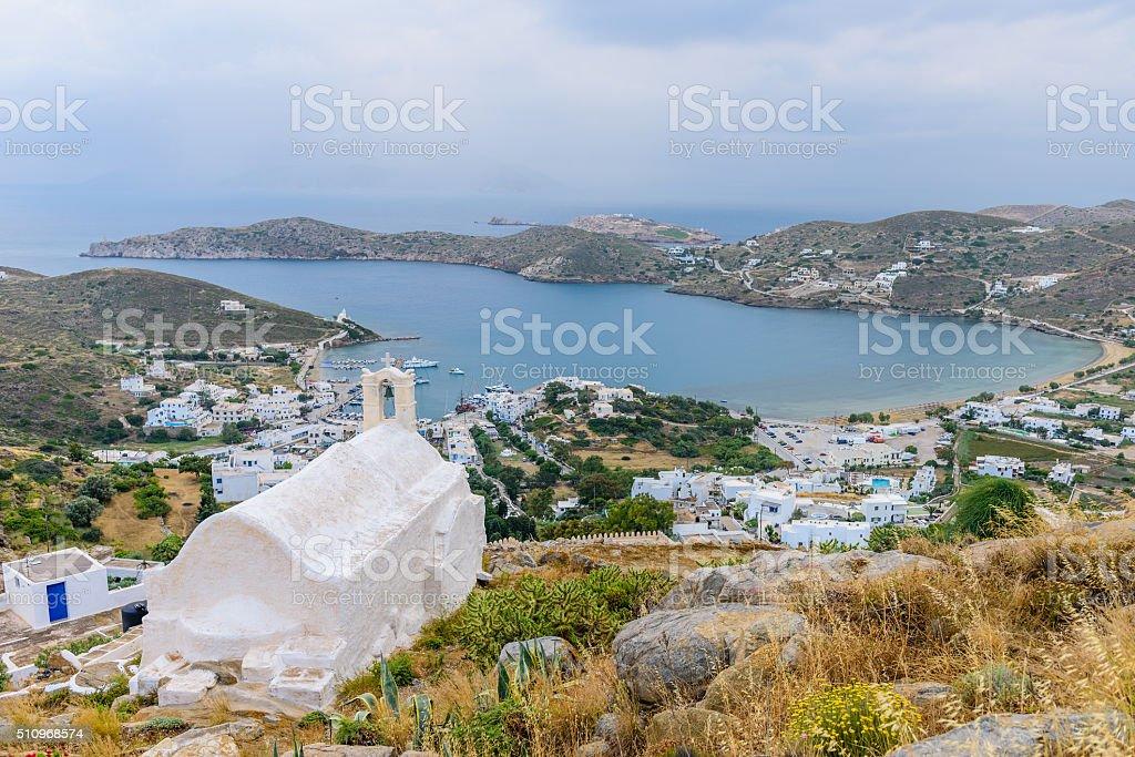 the coast of the Greek island of IOS stock photo