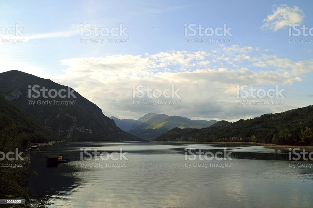 The coastal area of the Drina river and landscape royalty-free stock photo
