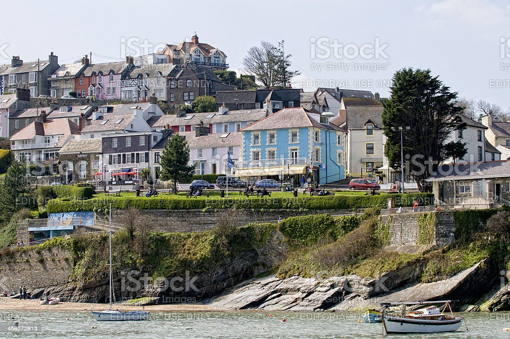 The Coastal town of New Quay in Wales royalty-free stock photo