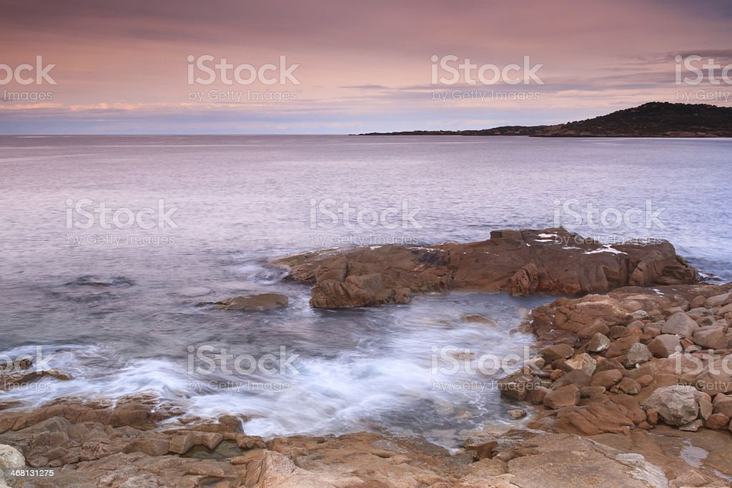 The coastline at Algajola, Corsica royalty-free stock photo