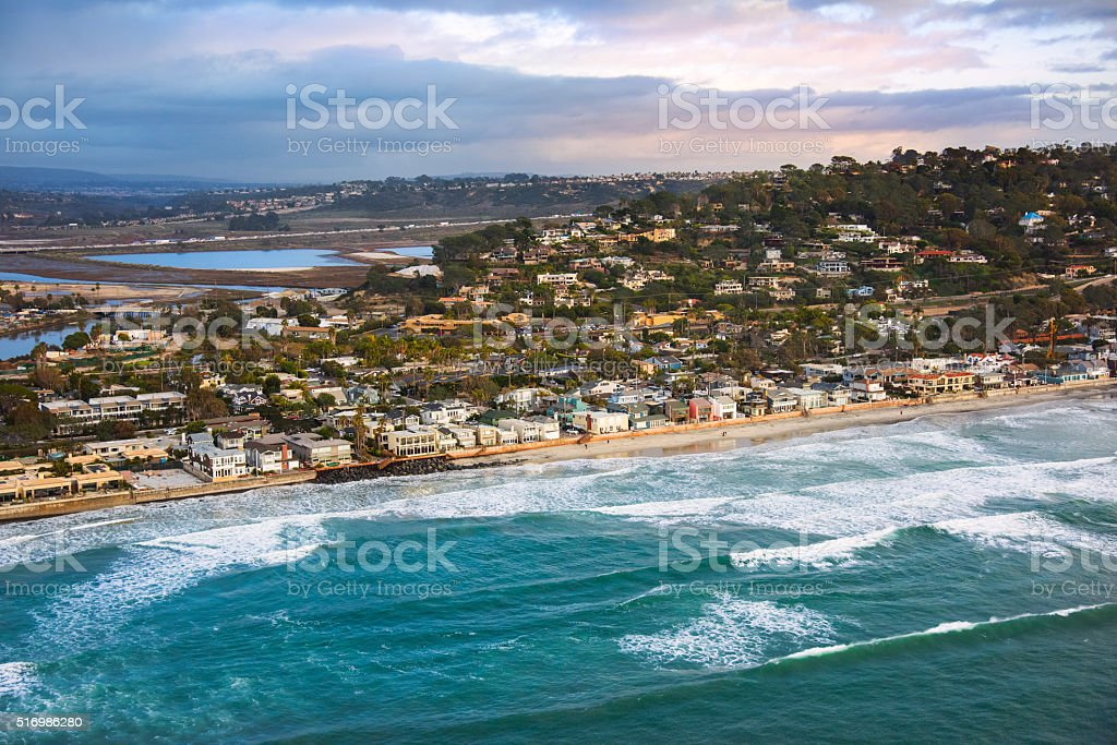 The Coastline of Del Mar California - San Diego stock photo