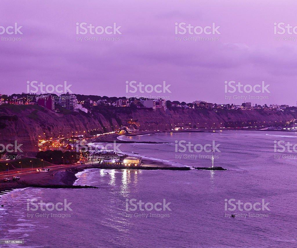 The coastline of Lima, Peru royalty-free stock photo