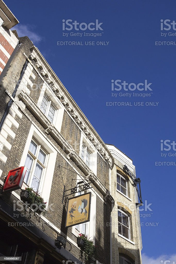 The Cockpit Pub on St Andrews Hill, London royalty-free stock photo