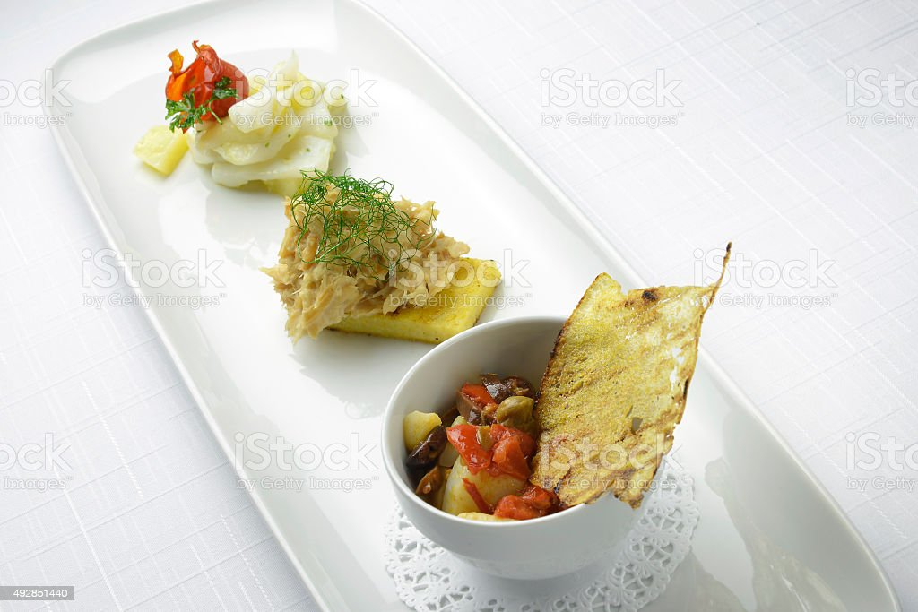 The cod and stockfish stock photo