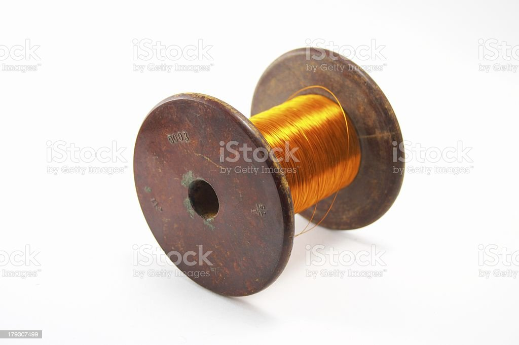 The coil of a copper wire  royalty-free stock photo