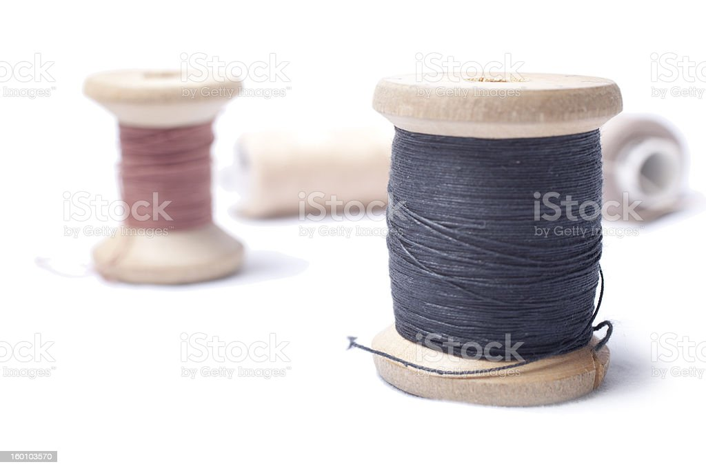 The coil of threads royalty-free stock photo