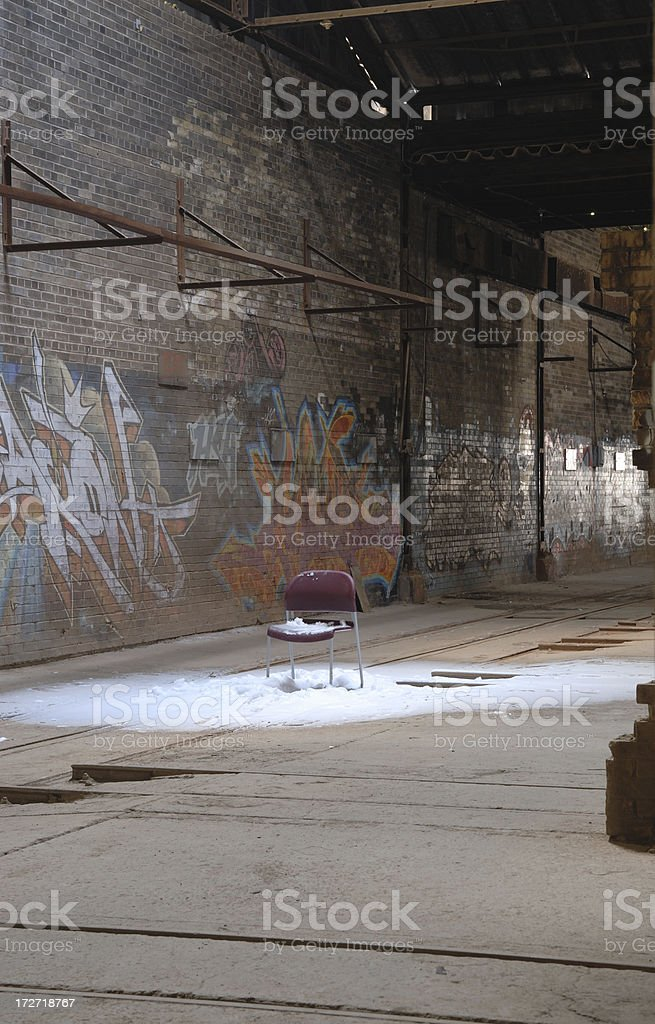 the cold seat royalty-free stock photo