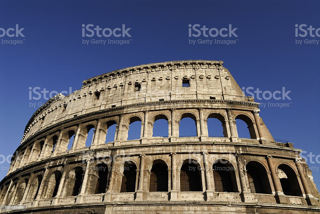 The Coliseum in Rome Italy royalty-free stock photo